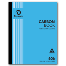 OLYMPIC 606 DUP CARBON BOOK 254X203MM 140853