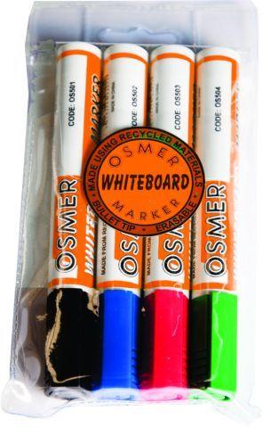 OSMER CHISEL TIP WHITEBOARD MARKER  WALLET 4