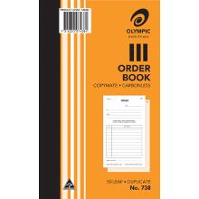 OLYMPIC 738 ORDER BOOK C/LESS DUPLICATE ORDER