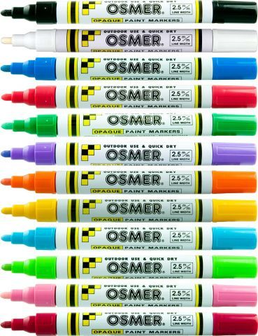 OSMER PAINT MARKER ASST COLOURS BX12