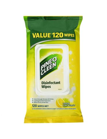 PINEON CLEAN/DETTOL SURFACE WIPES 120PK