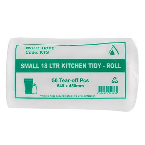 KITCHEN TIDY BAGS SMALL 18 LITRE (ROLL 50)