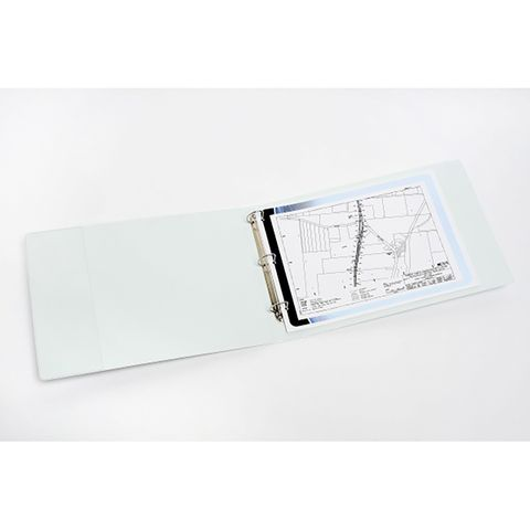 MARBIG CLEARVIEW INSERT BINDER A3 3D 50MM LANDSCAPE WHITE