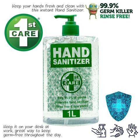 HAND SANITIZER 1ST CARE 1L  62-65% ALCOHOL PUMP ACTION  180264