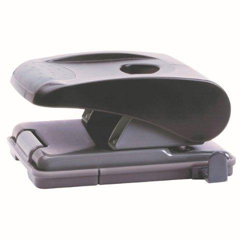 MARBIG PUNCH 2HOLE PLASTIC MAXI 35SHT BLACK 2 HOLE MAXI +LOCK 35 SHEETS 80 -CQS15