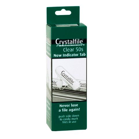 CRYSTALFILE TABS CLEAR BX50 NEW STYLE