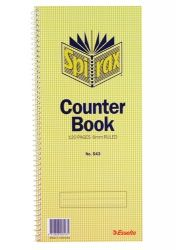 SPIRAX 543 COUNTER BOOK FEINT RULED 297X135MM 120 PAGE
