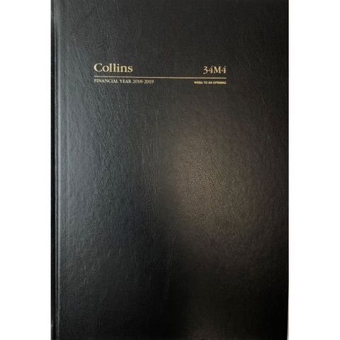 COLLINS DEBDEN FINANCIAL YEAR DIARY - A4 WTO 2020/2021