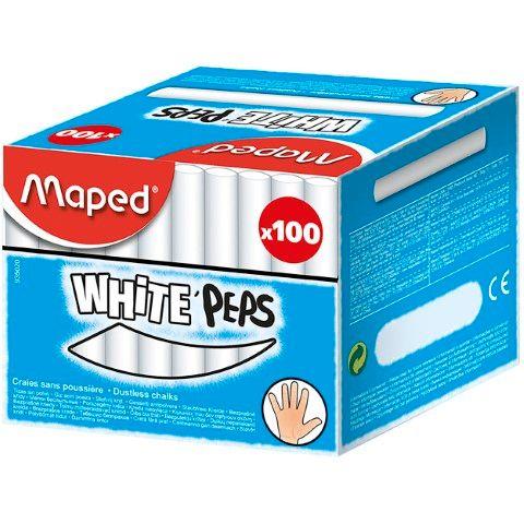 MAPED CHALK WHITE BOX 100-csq12 - 3154149350209