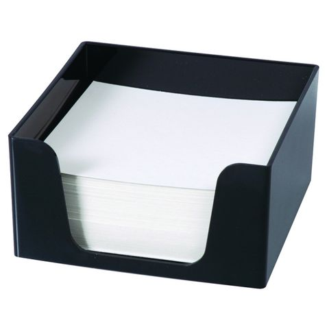 ESSELTE SWS MEMO CUBE W/500 SHEETS BLACK -CQS19 - 9310715910152