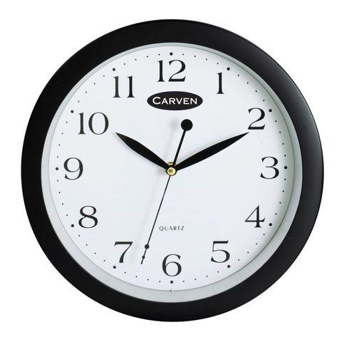 CLOCK BLACK CARVEN WALL 25CM
