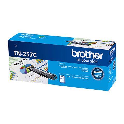 BROTHER TN257 CYAN TONER - 2300PG
