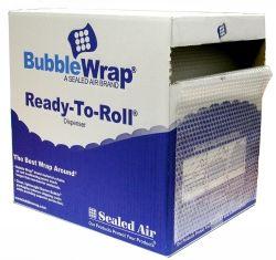 BUBBLE WRAP 350MM X 50M ROLL PERFERATED 750MM IN DISPENSER BOX