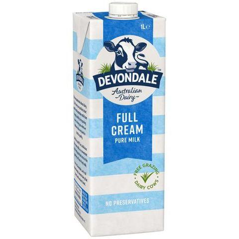 DEVONDALE 1L FULL CREAM MILK BULK PK10 CS