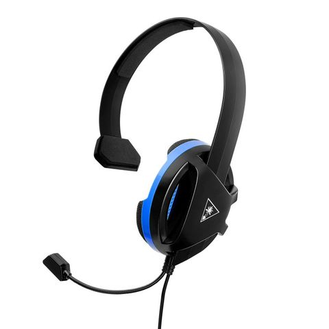 """""""TURTLE BEACH RECON CHAT HEADSET BLACK PS4 ALLOWS YOU TO CONNECT DIRECTLY TO THE PS4 CONTROLLER AND PS VITATM, AS WELL AS OTHER DEVICES WITH A 3.5MM AUDIO CONNECTION. 40MM SPEAKER WITH NEODYMIUM MAGNET DELIVERS CHAT AUDIO FROM OTHER PLAYERS. """""""