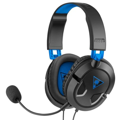 """""""TURTLE BEACH RECON 50P HEADSET BLACK FOR PLAYSTATION 4 FEATURES A LIGHTWEIGHT AND COMFORTABLE DESIGN PERFECT FOR THOSE HOURS-LONG GAMING SESSIONS, WITH HIGH-QUALITY 40MM SPEAKERS, A REMOVABLE HIGH-SENSITIVITY MIC, AND INLINE CONTROLS."""""""