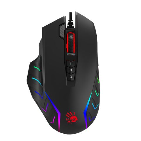 """""""BLOODY WIRED RGB GAMING MOUSE USB STONE BLACK, ACTIVATED (BC3332-S, 8000CPI)"""""""