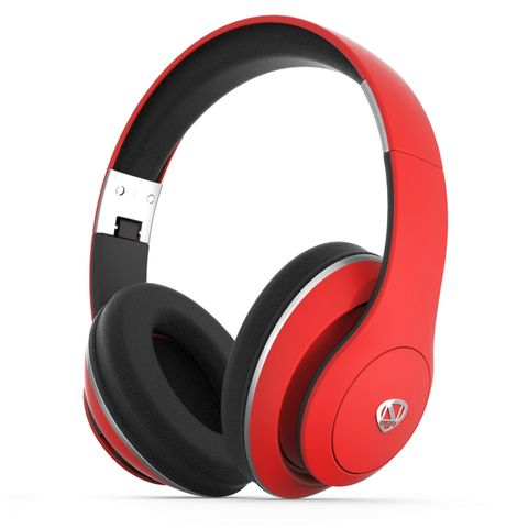 """""""RED -BLUETOOTH 4.0. POWERFUL, HIGH FIDELITY SOUND. SPEAKER DIAMETER 40MM. BATTERY CAPACITY 400 MAH. UP TO 15 HOURS OF LISTENING TIME, RECHARGES IN LESS THAN 2 HOURS. BUILT-IN MIC"""""""