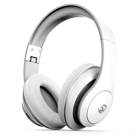 """""""WHITE - BLUETOOTH 4.0. POWERFUL, HIGH FIDELITY SOUND. SPEAKER DIAMETER 40MM. BATTERY CAPACITY 400 MAH. UP TO 15 HOURS OF LISTENING TIME, RECHARGES IN LESS THAN 2 HOURS. BUILT-IN MIC"""""""
