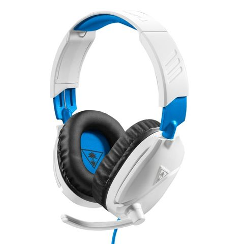 """""""TURTLE BEACH RECON 70 WHITE GAMING HEADSET IS LIGHTWEIGHT AND COMFORTABLE WITH HIGH-QUALITY 40MM OVER-EAR SPEAKERS, AND A HIGH-SENSITIVITY FLIP-UP MIC. *WORKS WITH XBOX ONE CONTROLLERS WITH A 3.5MM HEADSET JACK. """""""