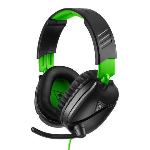 """""""TURTLE BEACH RECON 70X BLACK XB1 IS OFFICIALLY LICENSED FOR XBOX ONE. FEATURES A LIGHTWEIGHT AND COMFORTABLE DESIGN PERFECT FOR LONG GAMING SESSIONS, WITH HIGH-QUALITY 40MM SPEAKERS, A REMOVABLE HIGH-SENSITIVITY MIC, AND INLINE CONTROLS."""""""