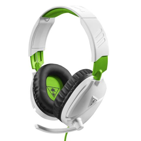"""""""TURTLE BEACH RECON 70X WHITE XB1 IS OFFICIALLY LICENSED FOR XBOX ONE. FEATURES A LIGHTWEIGHT AND COMFORTABLE DESIGN PERFECT FOR LONG GAMING SESSIONS, WITH HIGH-QUALITY 40MM SPEAKERS, A REMOVABLE HIGH-SENSITIVITY MIC, AND INLINE CONTROLS."""""""
