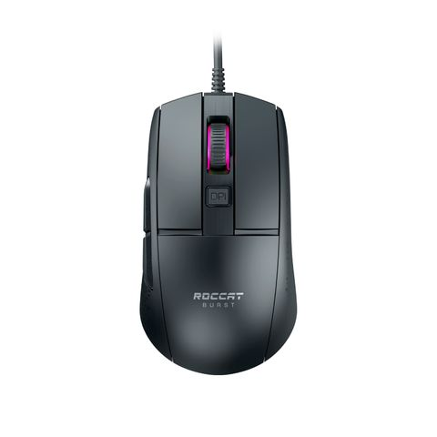 BLACK THE ROCCAT BURST CORE EXTREME LIGHTWEIGHT OPTICAL CORE GAMING MOUSE IS COMPETITIVELY PRICED WHILE BOASTING A FEATURE SET OUR RIVALS TYPICALLY CHARGE TOP DOLLAR FOR. IT ALSO BOASTS AN EXTREME LIGHTWEIGHT 68G.