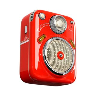 """""""RED - ENJOY YOUR MUSIC ANY TIME, ANYWHERE. IT IS SMALL ENOUGH TO FIT INSIDE YOUR POCKET, AND IT IS LIGHT ENOUGH TO TRAVEL. ELEGANT DESIGN AND PACKING MAKES IT A SPECIAL GIFT FOR YOU. 3 AUDIO MODES: BLUETOOTH/FM RADIO/ TF CARDS. UP TO FIVE HOURS PLAYTIME."""