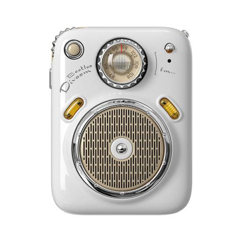 """""""WHITE - ENJOY YOUR MUSIC ANY TIME, ANYWHERE. IT IS SMALL ENOUGH TO FIT INSIDE YOUR POCKET, AND IT IS LIGHT ENOUGH TO TRAVEL. ELEGANT DESIGN AND PACKING MAKES IT A SPECIAL GIFT FOR YOU. 3 AUDIO MODES: BLUETOOTH/FM RADIO/ TF CARDS. UP TO FIVE HOURS PLAYTIM"""