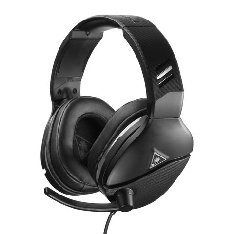 """""""TURTLE BEACH RECON 200 BLACK UNIVERSAL HAS MULTI-PLATFORM COMPATABILITY. DESIGNED FOR XBOX ONE, PS4 PRO, PS4 & PS5 CONTROLLERS WITH A 3.5MM JACK, AND ALSO WORKS GREAT WITH NINTENDO SWITCH, PC, AND MOBILE DEVICES WITH A 3.5MM CONNECTION."""""""