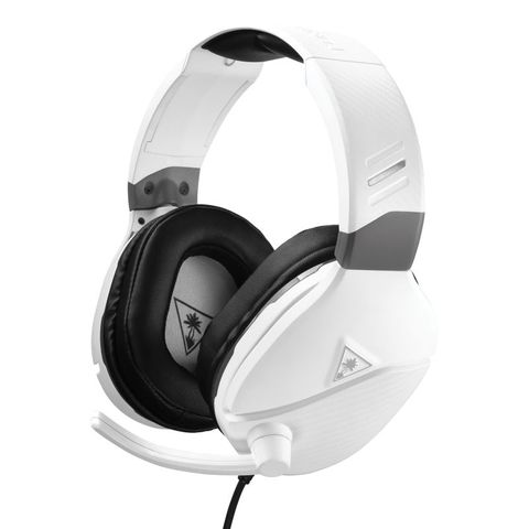 """""""TURTLE BEACH RECON 200 WHITE UNIVERSAL HAS MULTI-PLATFORM COMPATABILITY. DESIGNED FOR XBOX ONE, PS4 PRO, PS4 & PS5 CONTROLLERS WITH A 3.5MM JACK, AND ALSO WORKS GREAT WITH NINTENDO SWITCH, PC, AND MOBILE DEVICES WITH A 3.5MM CONNECTION."""""""