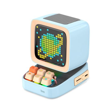 """""""BLUE - DISCOVER THE PIXEL ART MAGIC WITH DIVOOM DITOO SPEAKER. A MOBILE APP PROVIDES NUMEROUS USEFUL DAILY, FUNCTIONS AND PIXEL ART CREATION TOOLS AS WELL AS THE ACCESS TO THE WORLDS LARGEST PIXEL ART COMMUNITY. SPARK YOUR IMAGINATION WITH THE DITOO."""""""