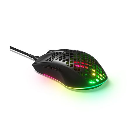"""""""THE AEROX 3 GAMING MOUSE IS ULTRA-LIGHTWEIGHT AT 57G, BUILT ON TRUEMOVE CORE OPTICAL GAMING SENSOR AND AQUABARRIER FOR WATER RESISTANCE AND PROTECTION FROM DUST."""""""