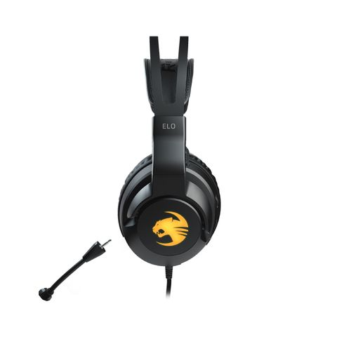 """""""THE ROCCAT ELO 7.1 USB SURROUND SOUND RGB GAMING HEADSET DELIVERS 360 VISUAL AUDIO, CLEAR CHAT, A DYNAMIC FIT FOR ALL-DAY COMFORT AND VIVID AIMO ILLUMINATION. """""""