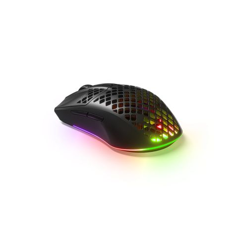 """""""THE AEROX 3 WIRELESS GAMING MOUSE IS ULTRA-LIGHTWEIGHT AT 66G, WITH A 200 HOUR BATTER LIFE, PLUS FAST CHARGING, DUAL WIRELESS AND BLUETOOTH CONNECTIVITY AND PIXEL-PERFECT TRUEMOVE AIR OPTICAL GAMING SENSOR."""""""
