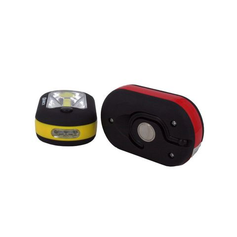 """""""DORCY 3AAA 27 LED WORKLIGHT, POWERFUL 150 LUMEN COB STRIP LIGHT, FOLDABLE HANG HOOK, REAR MAGNET, DOUBLE LIGHT FUNCTION AREA TORCH, COMES IN A COUNTER DISPLAY UNIT READY TO GO, ASSORTED COLOURS,  BATTERIES INCLUDED"""""""