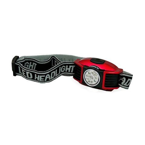 """""""DORCY 3AAA 42 LUMEN LED HEADLAMP, COMFORTABLE AND ADJUSTABLE HEAD STRAP, BATTERIES INCLUDED, 3 LIGHT MODES,WHITE, RED, GREEN, 12 HOUR RUN TIME"""""""