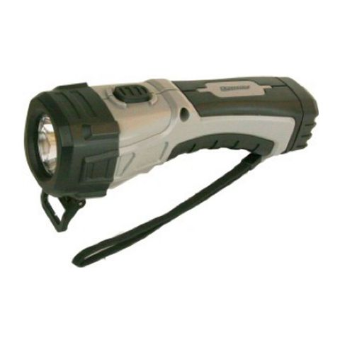 """""""DORCY 4AA 123 LUMEN LED WORKLIGHT DURABLE CONSTRUCTION, KICK STAND FOR HANDS FREE USE, NYLON WRIST STRAP, BATTERIES INCLUDED, 3 HR RUN TIME, 234M BEAM DISTANCE """""""