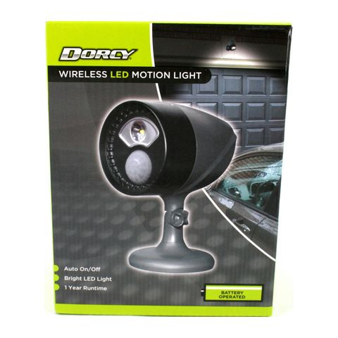 """""""DORCY 3D SENSOR SPOTLIGHT PROVIDING BRIGHT LIGHT ANYWHERE YOU NEED IT WITHOUT THE WIRES, EASY CLIP AND PLACE ANYWHERE AROUND THE HOME, MOTION SENSOR COUPLED WITH A PHOTO SENSOR TO ENSURE LIGHT ONLY TURNS ON WHEN REQUIRED. AUTO OFF FUNCTION"""""""
