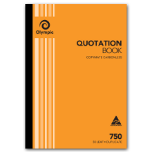 OLYMPIC 750 C/LESS QUOTE DUP BOOK 50L 297X210MM