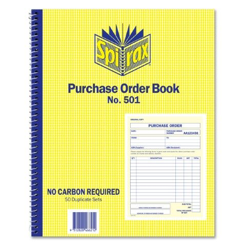 SPIRAX 501 PURCHASE ORDER BOOK - 9312828466212