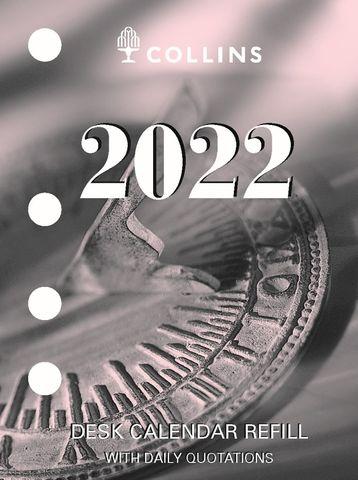 COLLINS DEBDEN DESK CALENDAR REFILL SIDE OPENING 2022 DCRS