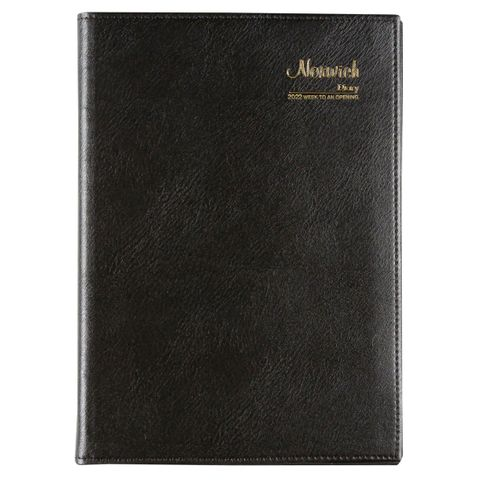 CUMBERLAND NORWICH A5 WTO 2022 DIARY BLACK SPIRAL BOUND