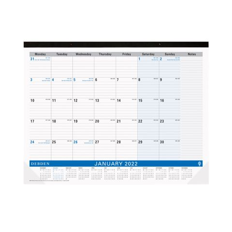 DESK PAD PLANNER 3901C59 MONTH TO VIEW 2022 440 X 560MM