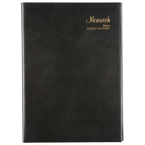 CUMBERLAND NORWICH A4 WTO 2022 DIARY BLACK SPIRAL BOUND