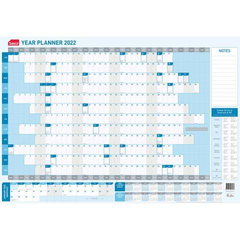 SASCO 2022 YEAR WALL PLANNER 870X610MM