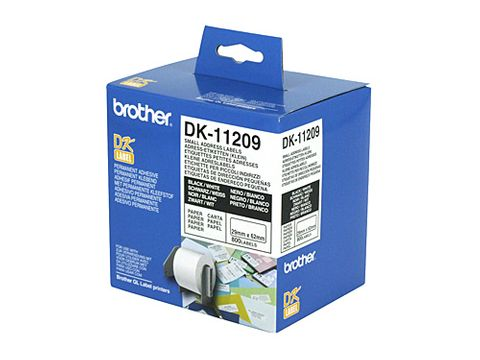 DYN-DK11209 BROTHER DK11209 WHITE LABEL - 29MM X 62MM - 800 PER ROLL - CQS15
