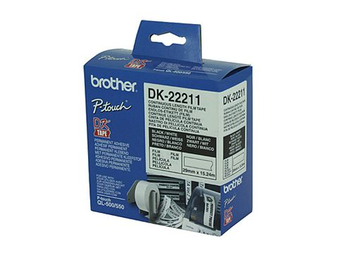 BROTHER DK22211 WHITE ROLL - 29MM X 15.24M FILM ROLL - CQS15