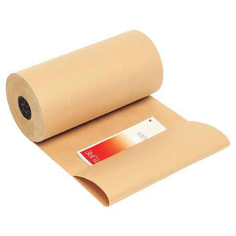 KRAFT COUNTER PAPER ROLL 600MM X 350M 60GSM RECYCLED