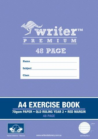 EXERCISE BOOK A4  YEAR 2 RULING 48 PAGE